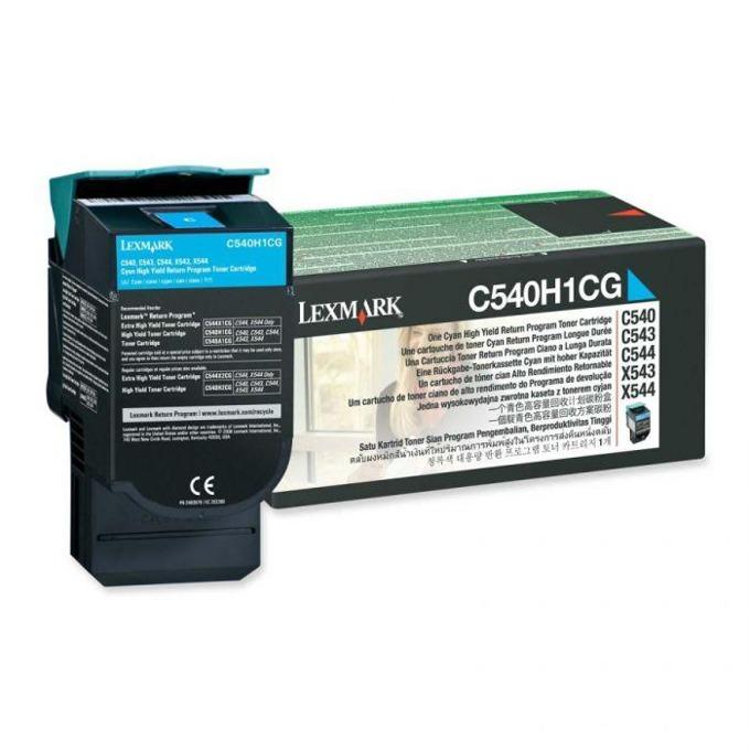 КАСЕТА ЗА LEXMARK OPTRA C 540 series/X540 series - Cyan - Return program cartridge High Yield - P№ C540H1CG - заб.: 2000k image