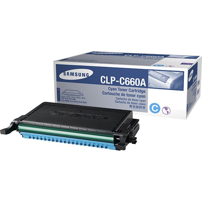 КАСЕТА ЗА SAMSUNG CLP610/CLP660/CLX6200/CLX6210/CLX6240 - Cyan - P№ CLP-C660A - заб.: 2000k image