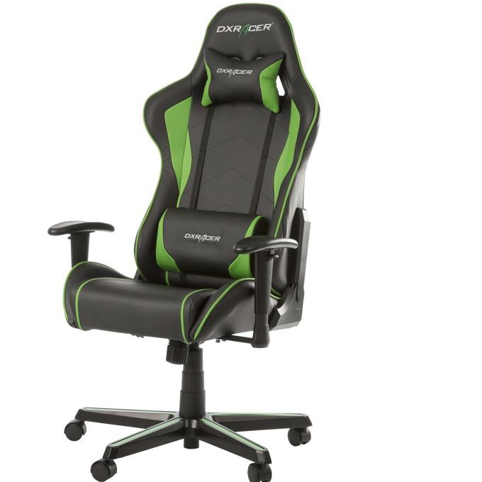 Геймърски стол DXRacer Formula, черен/зелен image
