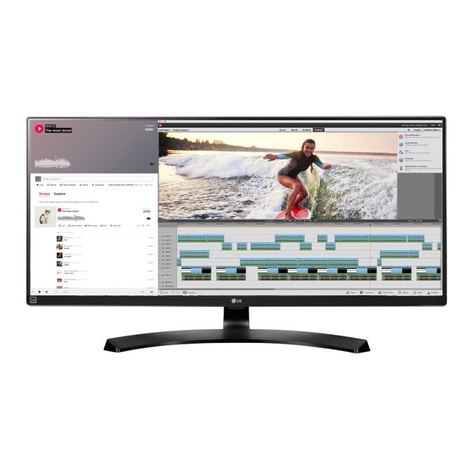 """Монитор LG 34UM88C-P, 34"""" (86.36 cm), IPS панел, 5ms, UWQHD, 5 000 000:1, 300 cd/m2, 2x HDMI, DisplayPort, USB image"""