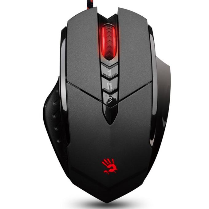 Мишка A4Tech Bloody V7m, оптична (3200dpi), 8 програмируеми бутона, USB, черна, гейминг image