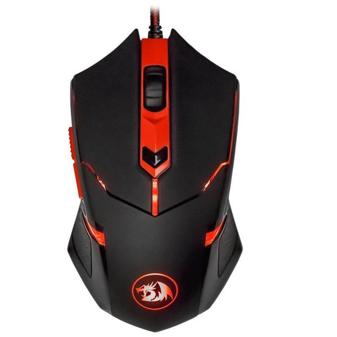 Мишка Redragon CentroPhorus, оптична (2000 dpi), USB, черна, подсветка, геймърска image