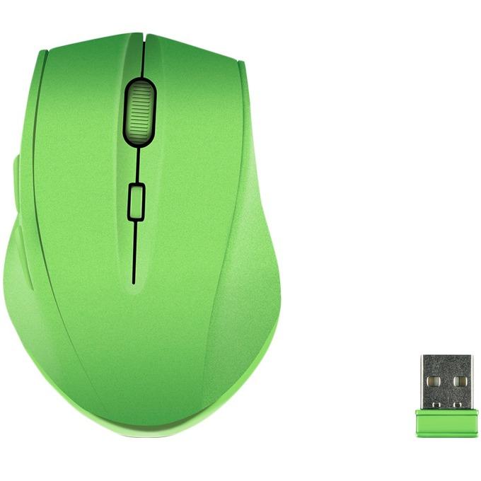 Мишка Speedlink CALADO Silent, оптична (1600 dpi), безжична, USB, зелена image