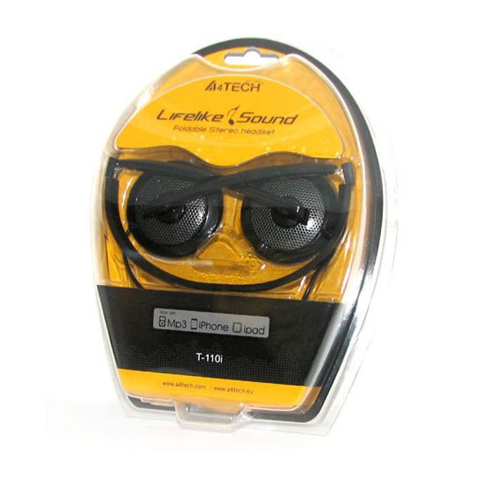 Слушалки A4 T-110I, черни, микрофон image