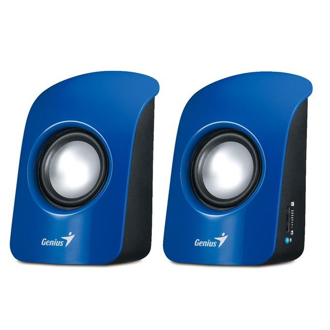 Тонколони Genius SP-U115, 2.0, RMS 3W (1.5W + 1.5W), USB, сини, преносими, USB захранване image