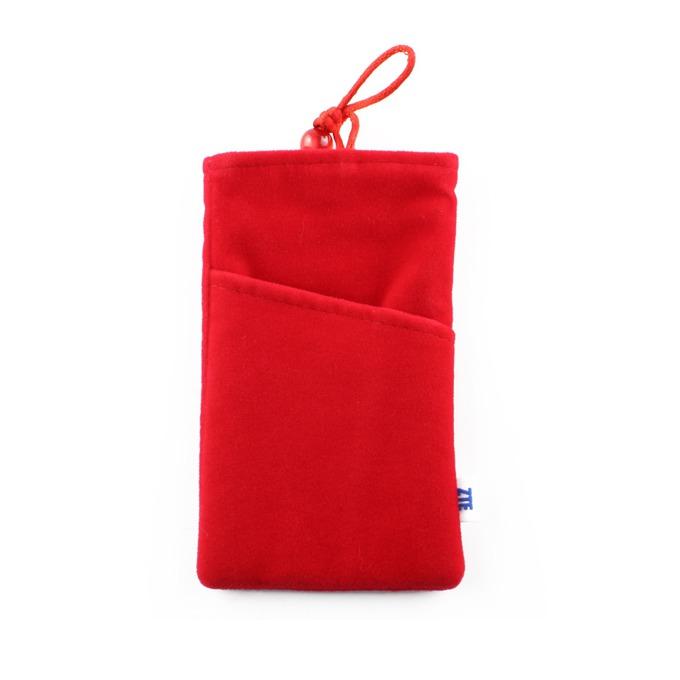"Калъф тип ""джоб"" ZTE 4.3''(10.92см) за телефони, платнен, червен image"