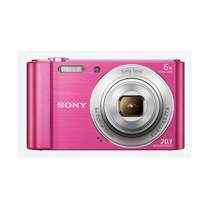 """Sony Cyber Shot DSC-W810, розов, 20.1MP, 6xOptical zoom, 2.7"""" (6.86cm) екран, SDHC/SDXC, USB image"""