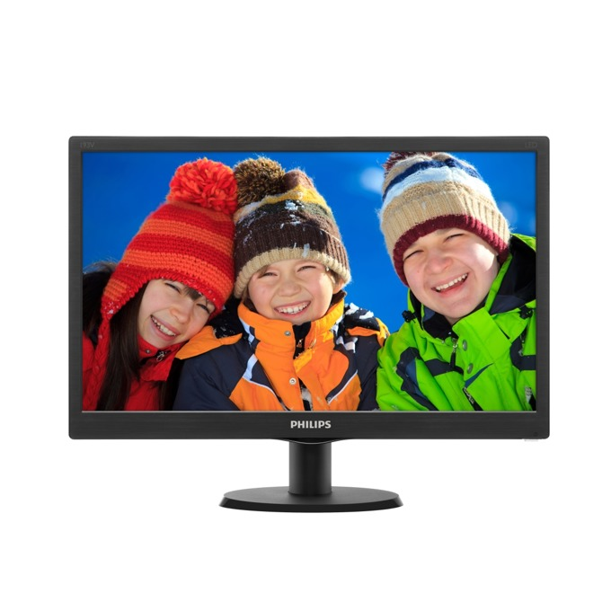 """Монитор 18.5"""" (47 cm) Philips 193V5LSB2, HD LED, 5ms, 10 000 000:1, 200cd/m2 image"""