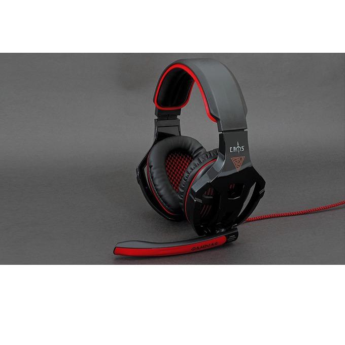 Gamdias EROS GHS2200, гейминг, микрофон, червени/черни, USB 2.0 image