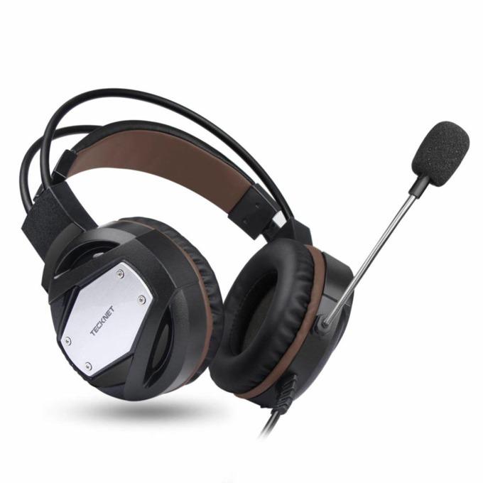 Слушалки TeckNet GH10919, микрофон, геймърски, 7.1 канален съраунд звук , USB, черни image