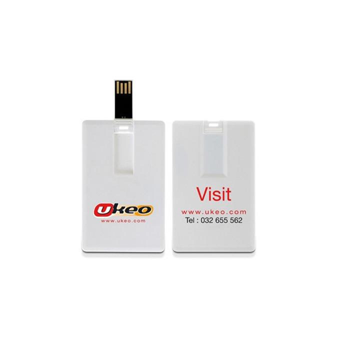 "4GB USB Flash Drive, Estillo ""BU/SD-25F"", без лого, с карта, USB 2.0, бяла image"
