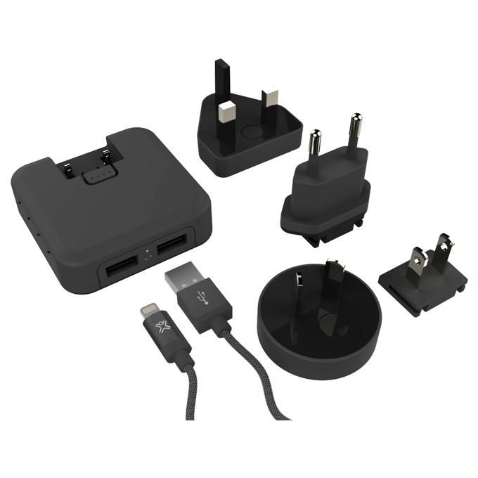 Зарядно у-во за дома XtremeMac, 2x 2.4A, 2x USB A(ж), за мобилни устройства, черно image