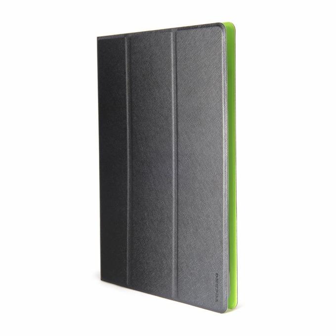 "Калъф /тип бележник/ за таблет Tucano TAB-V10-NV , до 10"" (25.4cm), черен/зелен image"