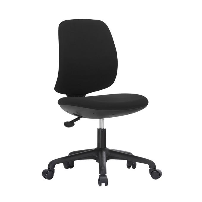 Детски стол RFG Lucky Black, дамаска, черна седалка, черна облегалка image