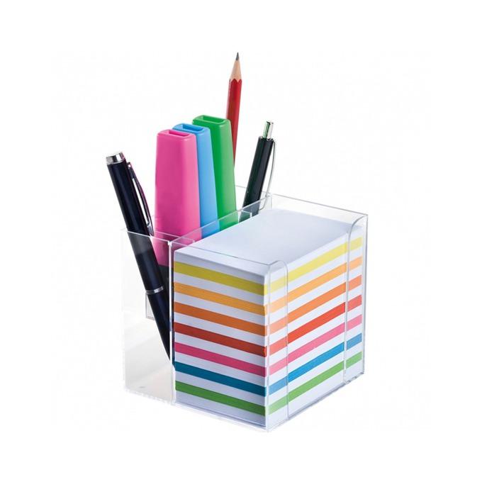 Листчета Wedo, 700бр., с пластмасова поставка за химикалки, моливи и др., различни пастелни цветове image