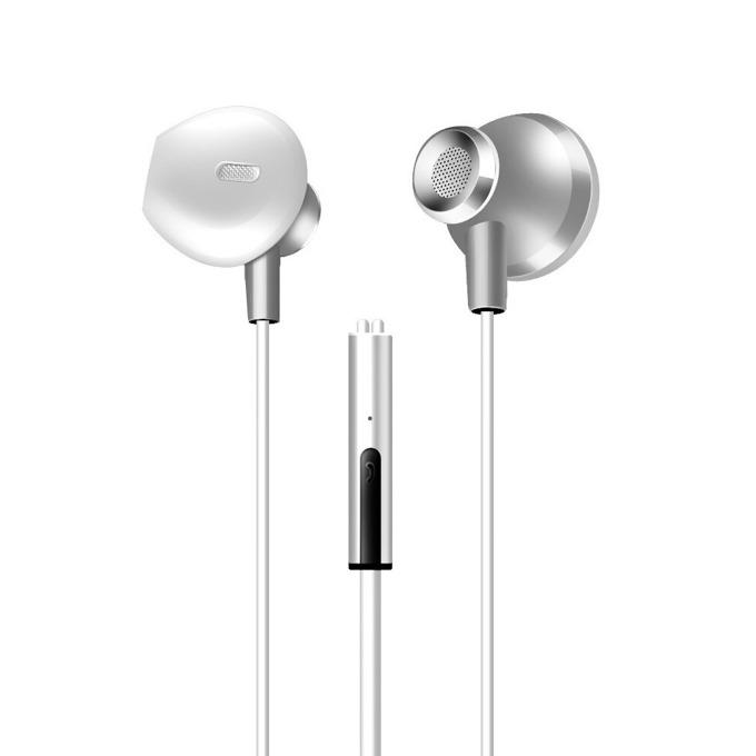 """Слушалки Earldom ET-E14, микрофон, 1.2 m. кабел, тип """"тапи"""", 3.5 mm jack, сиви image"""