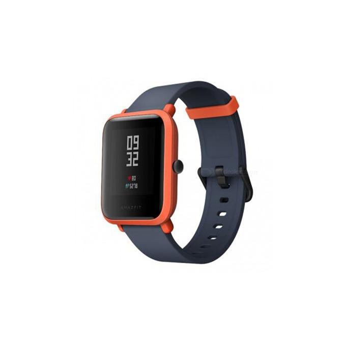 """Смарт часовник Xiaomi Amazfit Bip, GPS, Bluetooth 4.0, 1.28"""" (3.25 cm) дисплей, до 22 часа време за работа, IP68 водозащита, черен-оранжев image"""