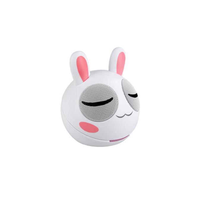 Тонколона KitSound Portable Speaker Mini Bunny, 1.0, 2W, USB, бял image