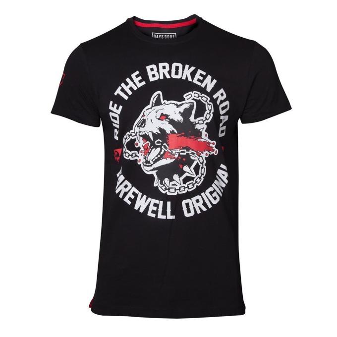 Тениска Bioworld Days Gone Broken Road, размер XL, черна image