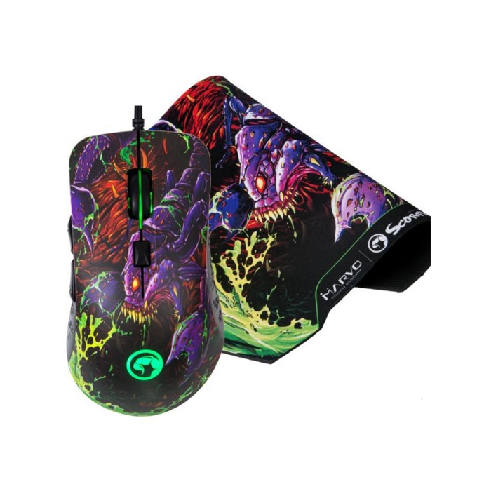 Мишка G932 в комплект с пад G20 2-in-1, оптична(4000dpi), 6 бутона, USB, гейминг, шарена image