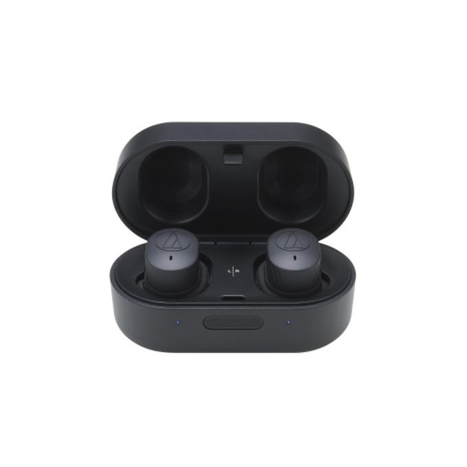 Слушалки Audio-Technica ATH-SPORT7TW, безжични, микрофон, до 3.5 часа работа, IPX5, черни image