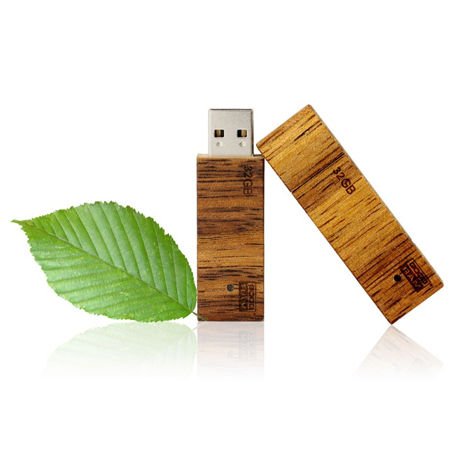 16GB USB Flash Drive, Goodram Eco, USB 2.0, светлокафява  image