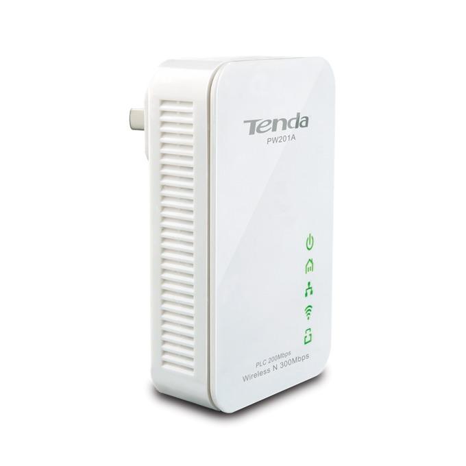 Powerline адаптери Tenda PW201A в комплект с Tenda P200, 300Mbps, Wi-Fi, 1x 10/100 Ethernet порт, 2 устройства image