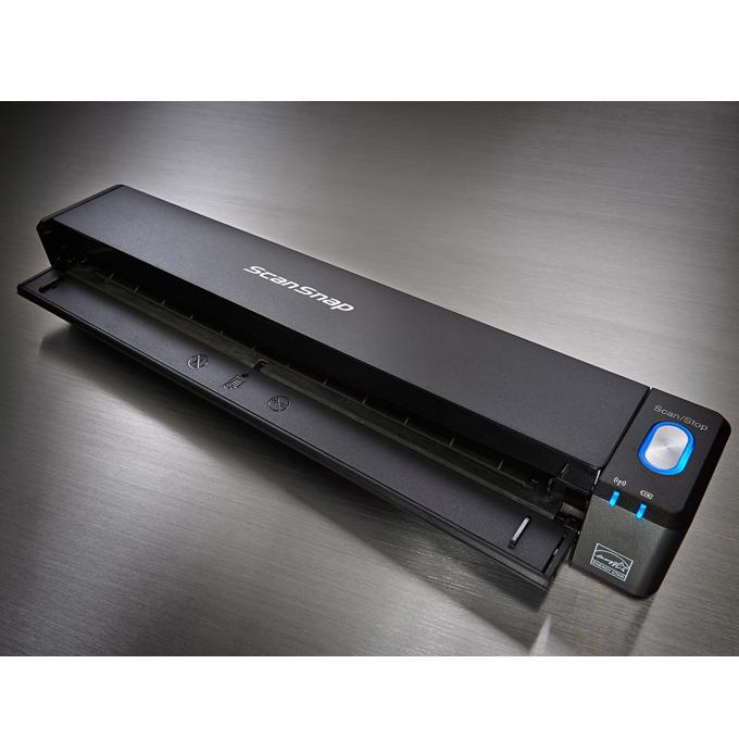 Преносим скенер Fujitsu IX-100, 600 x 600 DPI, A4, двустранно сканиране, USB, WLAN, 5 секунди на страница image