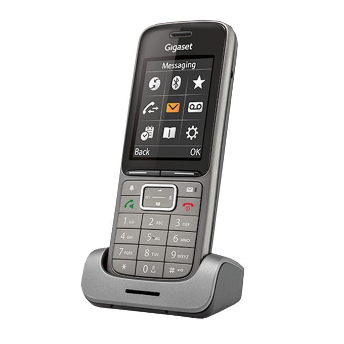 Безжичен телефон Gigaset SL750H PRO, осемредов цветен дисплей(240 x 320), светеща клавиатура, Bluetooth, вибрация, индикатор за съобщения, сив image