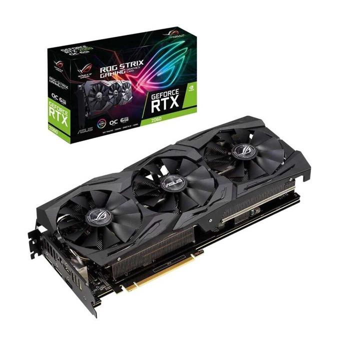 Видео карта Nvidia GeForce RTX 2060, 6GB, Asus ROG Strix Gaming OC, PCI-E, GDDR6, 192 bit, DisplayPort, HDMI image