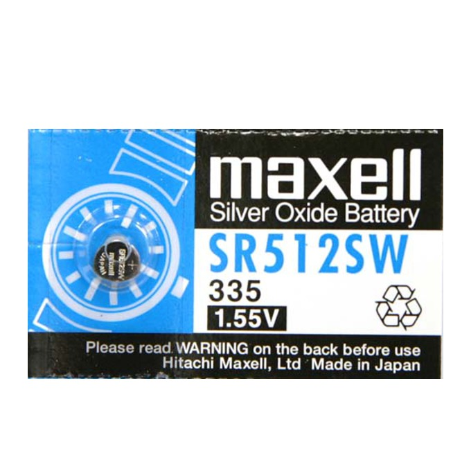 Батерия сребърна Maxell SR, SR512SW, 1.55V, 1 бр. image