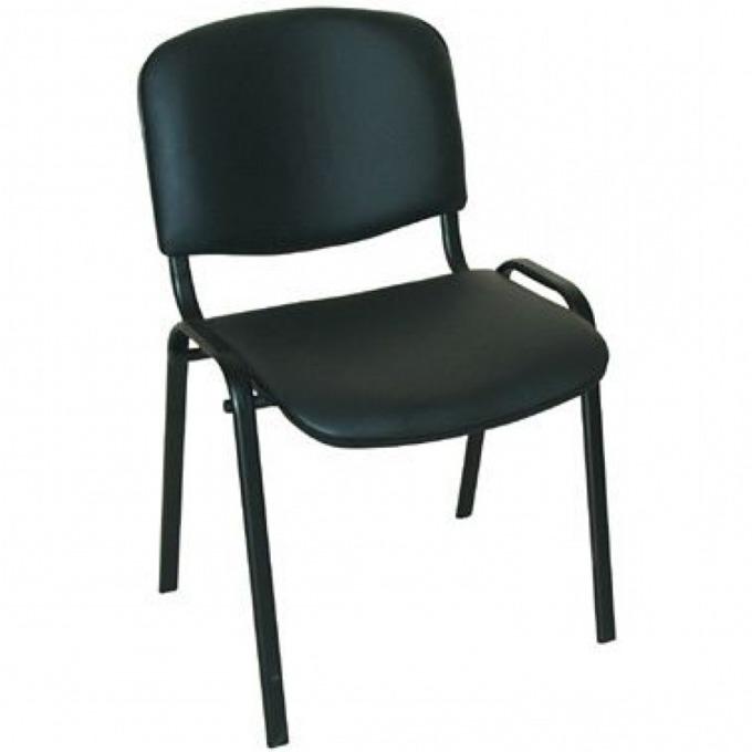 Посетителски стол Nowy Styl ISO, еко кожа, метална рамка, черен image