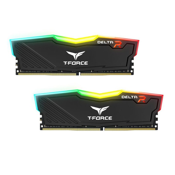 32GB (2X 16GB) DDR4 3000MHz, Team Group T-Force DELTA RGB Black TF3D432G3000HC16CDC01, 1.35V image