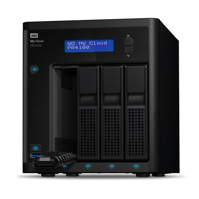 Western Digital MY CLOUD PR4100, без твърд диск(4x SATA, up to 32TB), двуядрен Intel Pentium N3710 1.6/2.56GHz, 4GB RAM, 2x Lan1000, 3x USB 3.0 image