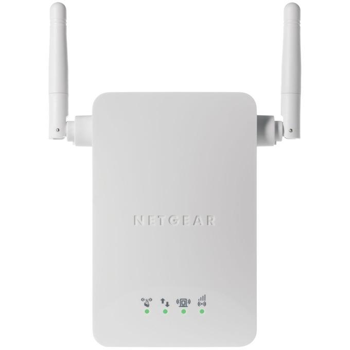 Range Extender/Репитер Netgear WN3000RP, N300 WiFi Range Extender (1 x 10/100), 300 Mbps, 2x външни антени, 802.11n image