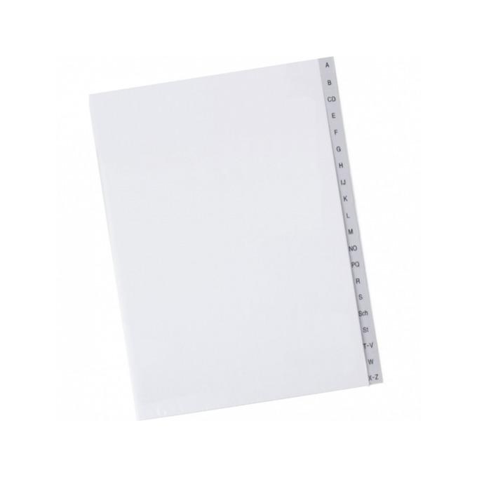 Разделител Exxo, за документи с формат до А4, с букви от A до Z, бял image