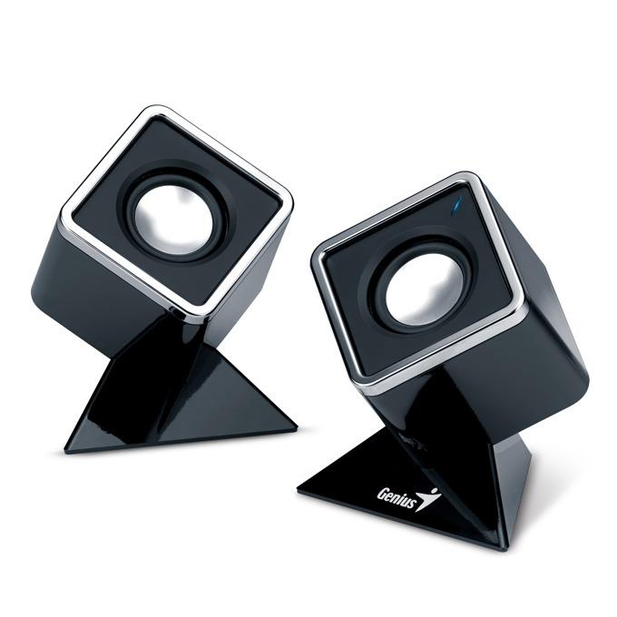Тонколони Genius SP-D120, 2.0, RMS 2W (1W + 1W), USB, черни, преносими image