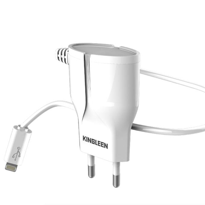 Зарядно устройство Kingleen C822E, от контакт към 1x Lighting, 5V/1.5A, бяло image