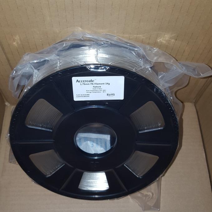 Консуматив за 3D принтер Acccreate, PA, 1.75mm, прозрачен, 1kg image