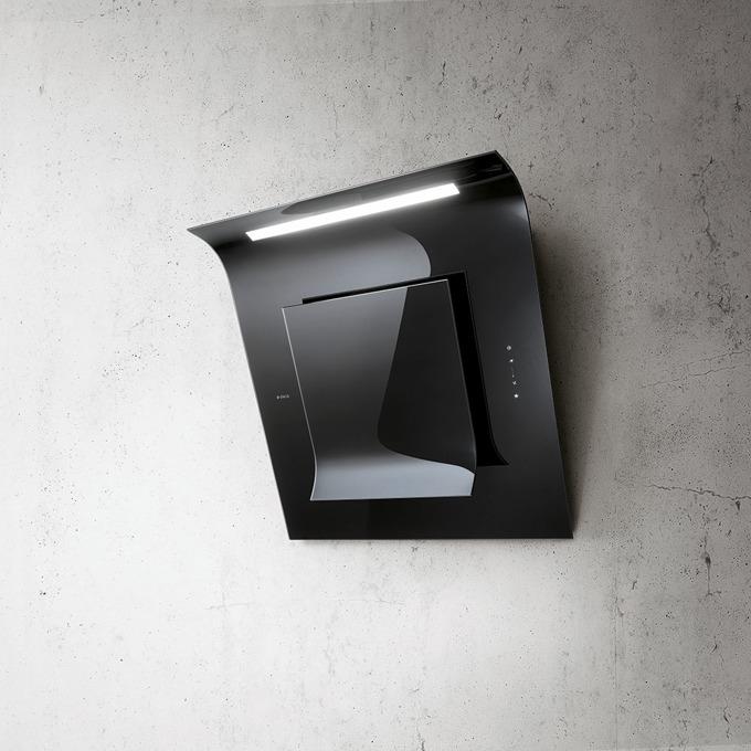 Абсорбатор Elica Sinfonia BL/F/80, свободностоящ, дизайнерски, енергиен клас B, 285W, въздухопоток 735 m3/h, 1 мотор, дизайнерски, черен image