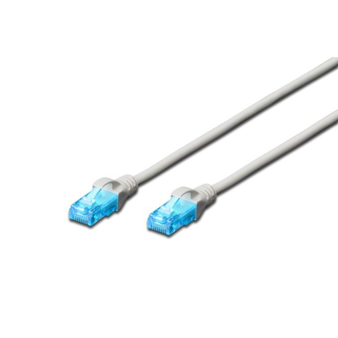 Пач кабел Digitus, UTP, Cat.5Е, 7m, сив image