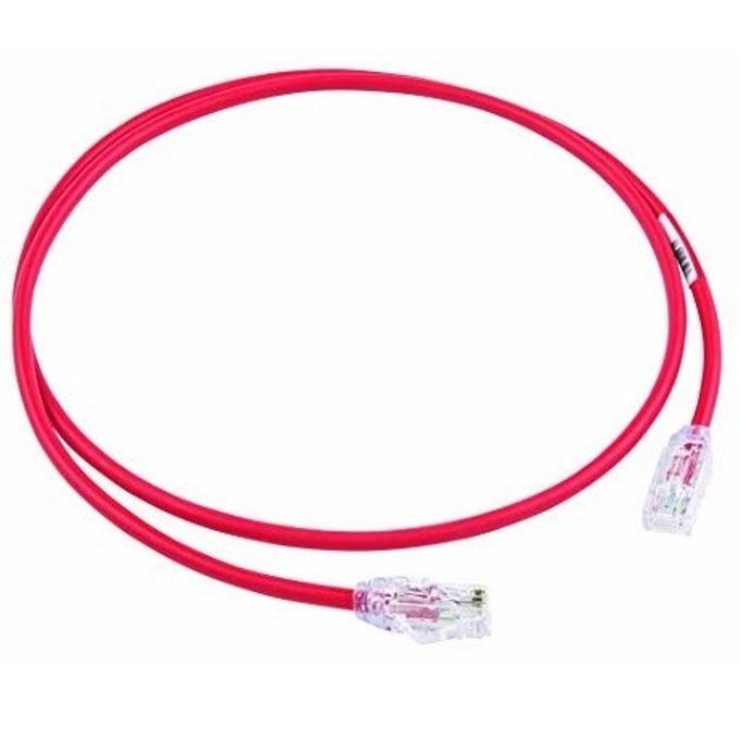 Пач кабел Panduit, UTP, cat.6a, 1m, червен image