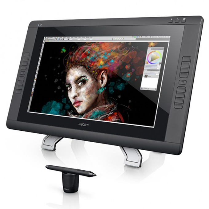 "Графичен таблет Wacom Cintiq 22HD Touch, мулти-тъч 21.5"" (54.61 cm) H-IPS екран, DVI, USB image"