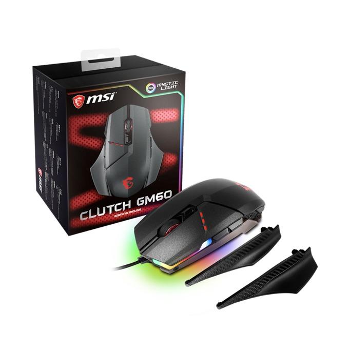 Мишка MSI CLUTCH GM60, оптична (10800 dpi), USB, черна image