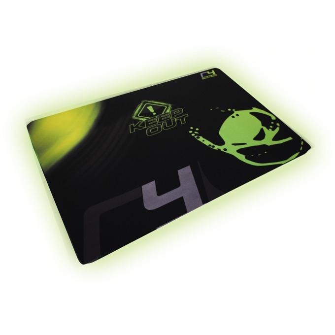 Подложка за мишка KEEPOUT R4, гейминг, черно/зелена, 450 x 370 x 3 мм image