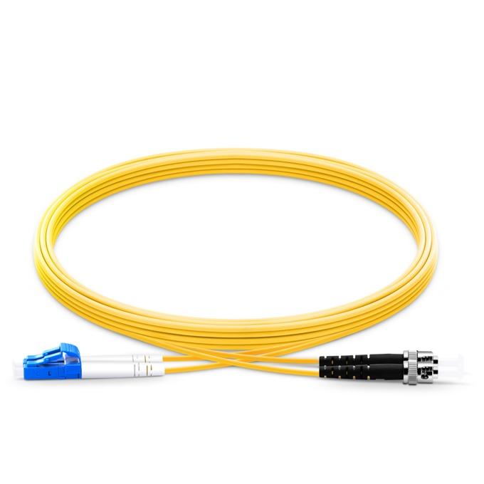 Оптичен пач кабел от LC(м) към FC(м), дуплекс, 9/125, сингъл мод, 2m, жълт image