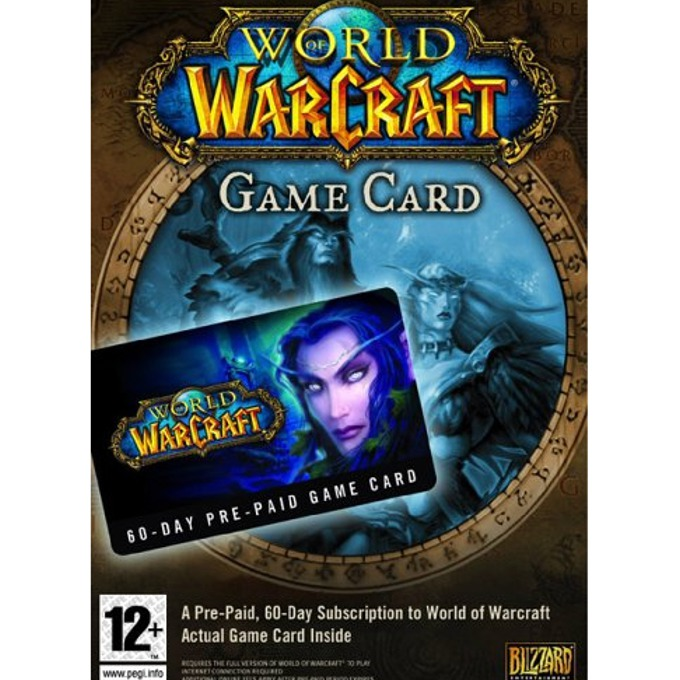 World of Warcraft Pre-Paid Card, 60-дневна