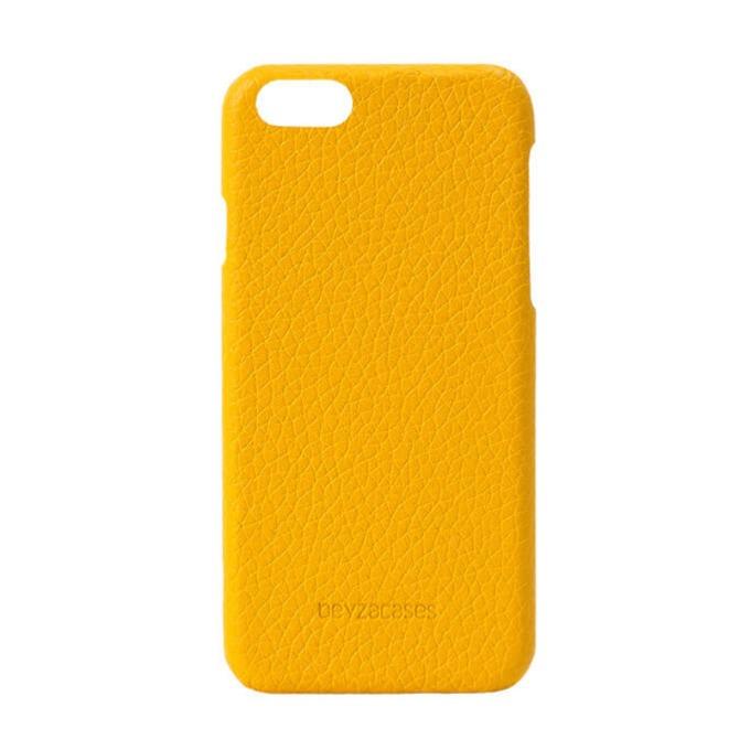 Калъф за Apple iPhone 7/8, кожа, Beyza Feder, жълт image
