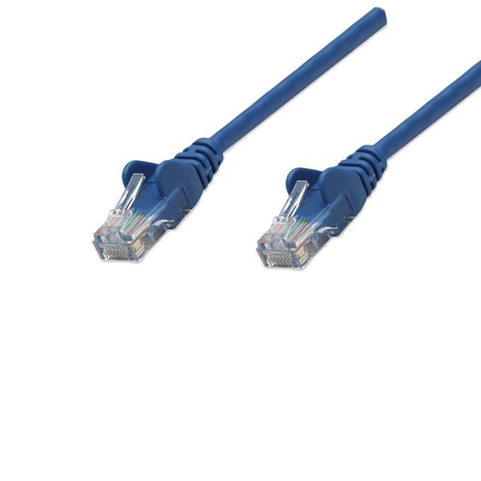 Пач кабел Intellinet, UTP, Cat.5e, 0.5m, син image