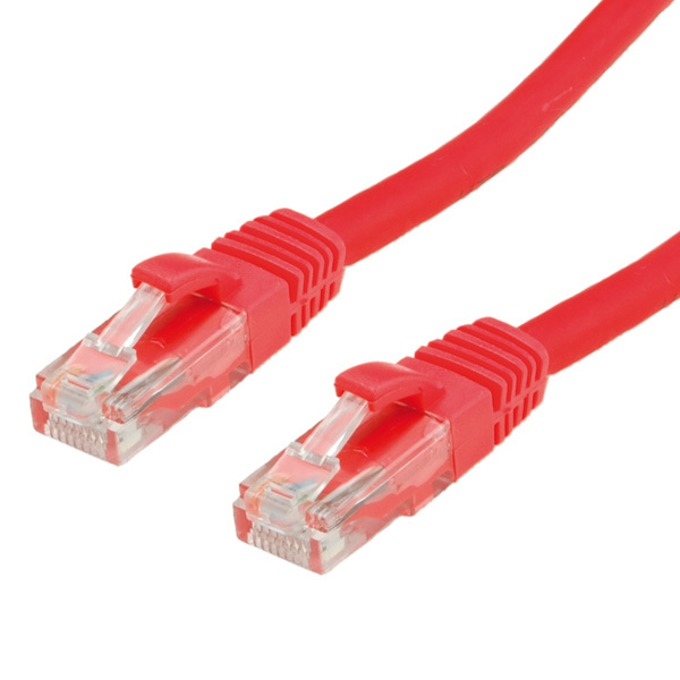 Пач кабел, Roline, UTP, Cat.6, без халоген, 1m, червен image